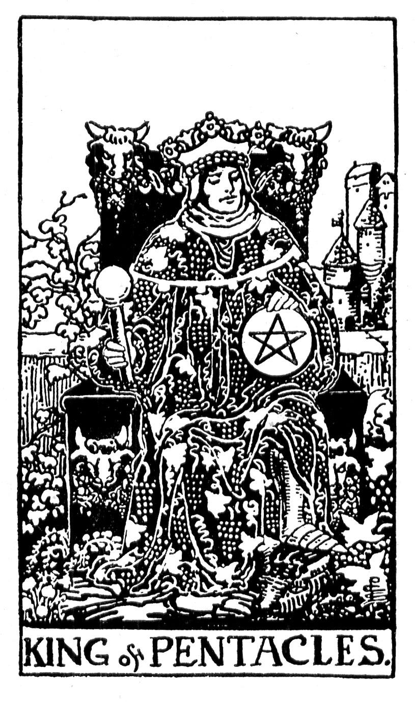 Черно-белое изображение короля Пентаклей.