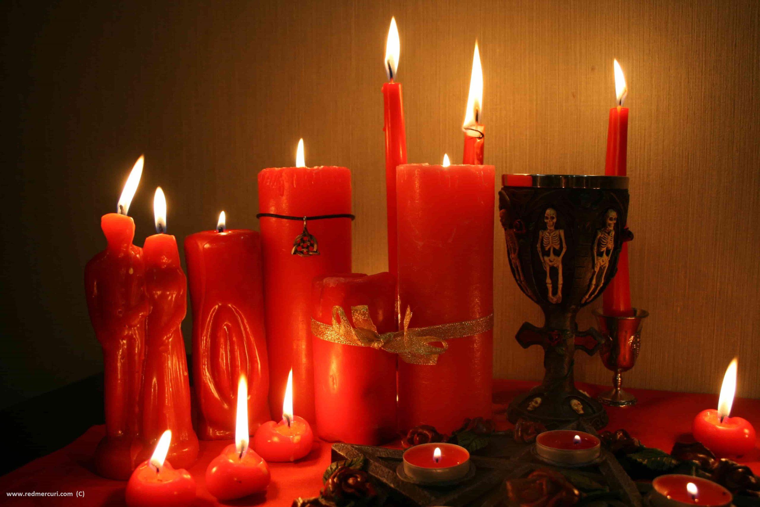 Приворот на свечи.