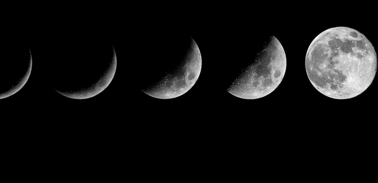 Растущая Луна (I и II четверти).
